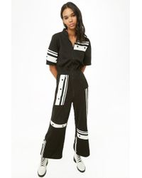 Forever 21 - Contrast Stripe Zippered Jumpsuit - Lyst