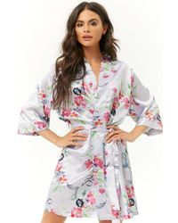 Forever 21 - Pretty Robes Floral Satin Robe - Lyst