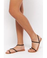 Forever 21 - Braided Flat Sandals - Lyst