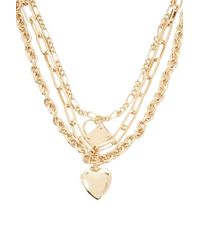 Forever 21 - Chunky Locket Layered Necklace - Lyst