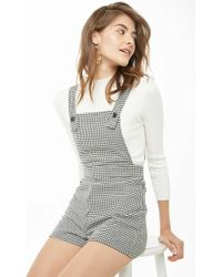 Forever 21 - Houndstooth Dungareel Shorts - Lyst
