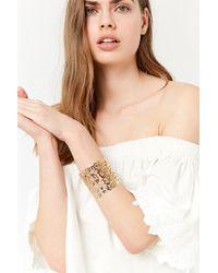 Forever 21 - Ornate Cutout Cuff Bracelet - Lyst