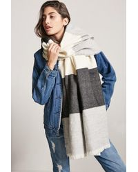 Forever 21 - Frayed Colorblock Oblong Scarf - Lyst