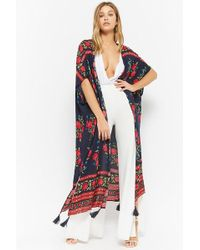 Forever 21 - Floral Open-front Duster - Lyst