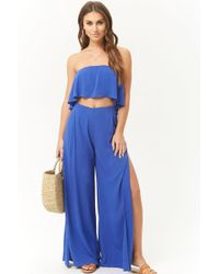 Forever 21 - Flounce Crop Top & Trousers Set - Lyst
