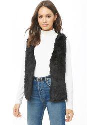 Forever 21 - Belted Faux Fur Vest - Lyst