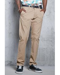 Forever 21 - Slim Cotton Chinos - Lyst