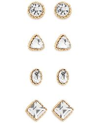 Forever 21 - Faux Gem Rhinestone Stud Earrings Set - Lyst
