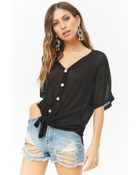 Forever 21 - Distressed Denim High-rise Shorts - Lyst