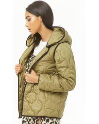 9fd8add1b3f Forever 21 Plus Size Velvet Puffer Jacket in Gray - Lyst