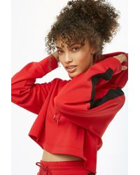 Forever 21 - Striped Semi-cropped Hoodie - Lyst