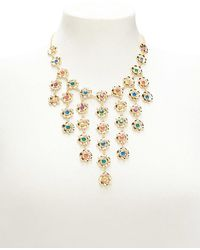 Forever 21 - Floral Rhinestone Statement Necklace - Lyst