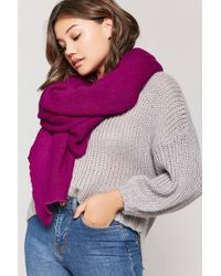 Forever 21 - Oversized Knit Scarf - Lyst