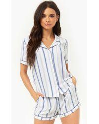 Forever 21 - Striped Shirt & Shorts Pajama Set - Lyst