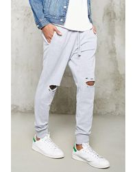 Forever 21 - Distressed Heathered Joggers - Lyst