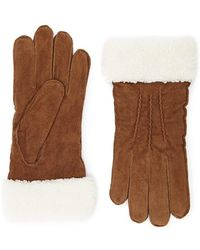 Forever 21 - Suede Faux Shearling Gloves - Lyst
