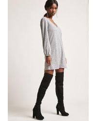 Forever 21 - Marled Knit Mini Dress - Lyst