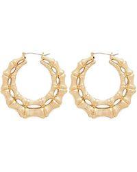 Forever 21 - Double Bamboo Hoop Earrings - Lyst