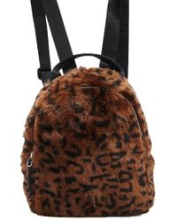 Forever 21 - Faux Fur Leopard Print Backpack - Lyst 0a6a9550e431a