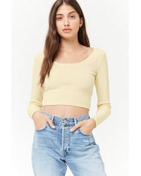 Forever 21   Ribbed Crop Top   Lyst