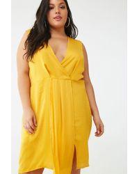 Missguided - Plus Size Sleeveless Mini Dress At , Yellow - Lyst