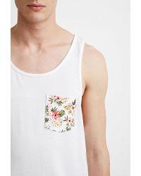 Forever 21 - Camiseta con bolsillo tropical - Lyst