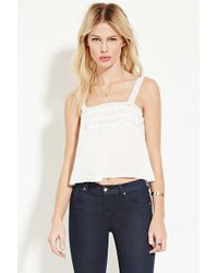 Forever 21 | Lace-trimmed Top | Lyst
