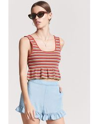 Forever 21 - Chambray Ruffle Shorts - Lyst