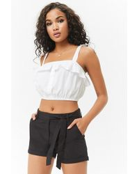 Forever 21 - Cuffed Cotton Shorts - Lyst