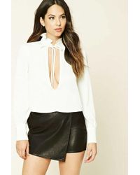 Forever 21 - Tie-neck Cutout Top - Lyst