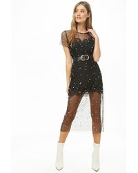 Forever 21 - Sheer Faux Pearl Dress - Lyst