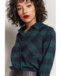 Forever 21 | Plaid Button-front Shirt | Lyst