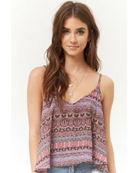 Forever 21 - Ornate Chiffon Strappy Swing Cami - Lyst