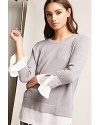 Forever 21 | Contrast Flare-sleeve Top | Lyst