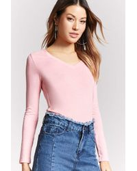 Forever 21 - Classic V-neck Top - Lyst