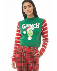 Forever 21 - The Grinch Striped-sleeve Sweater - Lyst