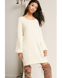 Forever 21 - Fuzzy Knit Dress - Lyst