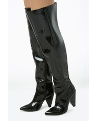 Forever 21 Women's Faux Patent Leather Thigh-high Boots