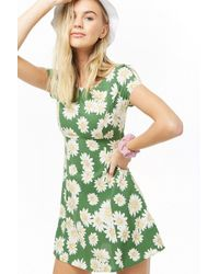90956750d88 Forever 21 - Women s Floral Print Mini Dress - Lyst