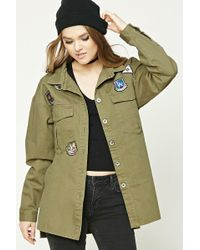 Forever 21 - Women's Army Patch Jacket - Lyst
