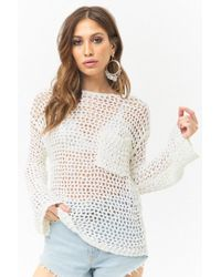 Forever 21 - Netted Bell Sleeve Sweater - Lyst