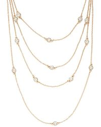 Forever 21 - Women's Layered Rhinestone Necklace - Lyst