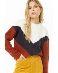 Forever 21 - Women's Ribbed Chevron Sweater - Lyst