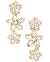 Forever 21 - Rhinestone Floral Drop Earrings - Lyst
