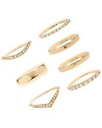 Forever 21 - Rhinestone Ring Set - Lyst