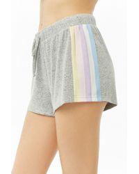 Forever 21 - Striped-trim Marled Pyjama Shorts - Lyst