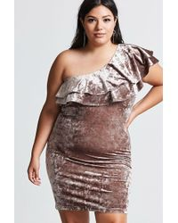 767667217a9e9 Forever 21 - Women s Plus Size Crushed Velvet Dress - Lyst