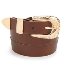 FOREVER21 - Geo Faux Leather Belt - Lyst