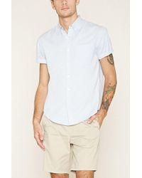 Forever 21 - Button-collar Shirt - Lyst