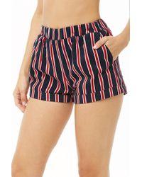 Forever 21 - Striped Cuffed Mini Shorts - Lyst